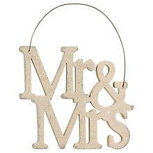 Buy East of India Wooden Mr and Mrs Sign Online at johnlewis.com