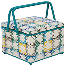 Buy John Lewis Multi Square and Spot Twin Lid Basket, Multi Online at johnlewis.com