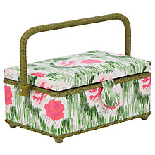 Buy John Lewis Vintage Rose and Spot Sewing Basket with Accessories, Multi Online at johnlewis.com