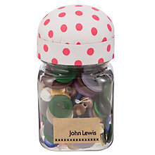 Buy John Lewis Spot Button Jar, Multi Online at johnlewis.com
