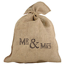 Buy East of India Mr & Mrs Hessian Sack Online at johnlewis.com