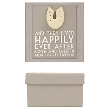 Buy East of India Wedding Gift Box, Grey Online at johnlewis.com