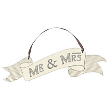 Buy East of India Mr and Mrs Hanging Ribbon Sign Online at johnlewis.com