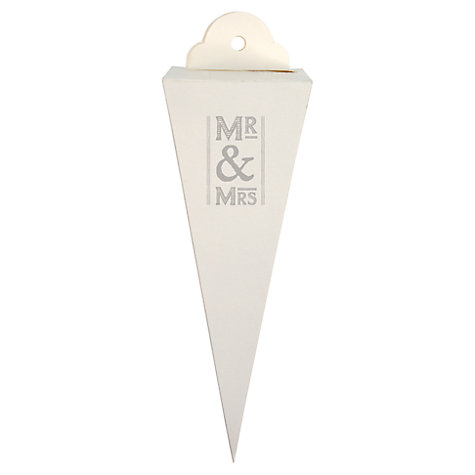 Buy East of India Mr & Mrs Wedding Favour Box Cones, Pack of 6, White Online at johnlewis.com
