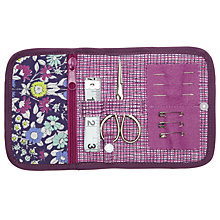 Buy John Lewis Daisychain Print Folded Sewing Kit, Purple Online at johnlewis.com