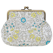 Buy John Lewis Daisy Chain Snap Purse, Teal Online at johnlewis.com