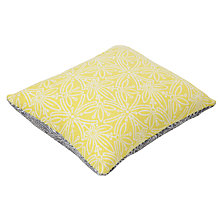 Buy John Lewis Cummersdale Print Pin Cushion, Steel/Citrine Online at johnlewis.com