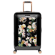 Buy Ted Baker Opulent Bloom 4-Wheel 69.5cm Medium Suitcase, Black Online at johnlewis.com