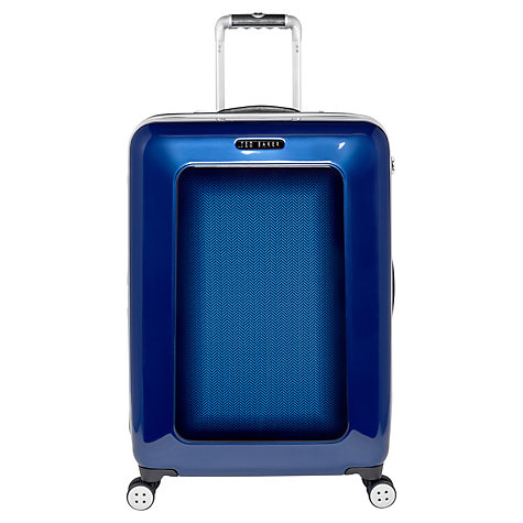 Buy Ted Baker Herringbone 4-Wheel 69.5cm Medium Suitcase Online at johnlewis.com
