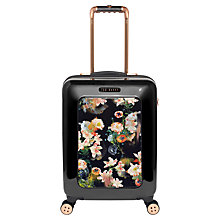 Buy Ted Baker Opulent Bloom 4-Wheel 54cm Cabin Suitcase, Black Online at johnlewis.com
