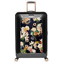 Buy Ted Baker Opulent Bloom 4-Wheel 79.5cm Large Suitcase, Black Online at johnlewis.com