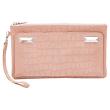 Buy French Connection Tibby Clutch Handbag, Dusty Melon Online at johnlewis.com