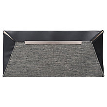 Buy French Connection Freya Envelope Clutch Handbag, Black/Grey Online at johnlewis.com