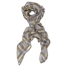 Buy French Connection Nancy Silk Scarf, Acid Zest Online at johnlewis.com