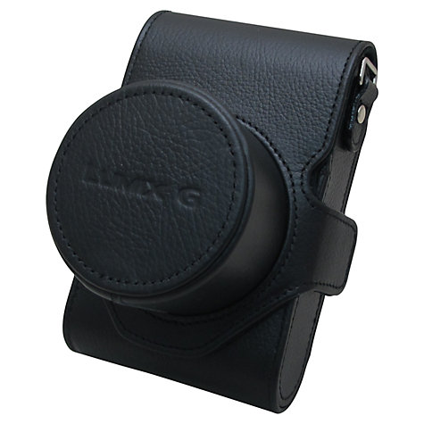 Buy Panasonic DMC-GM1 Leather Case, Black Online at johnlewis.com