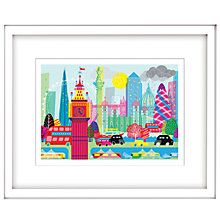 Buy Nicola Metcalfe - London Skyline Framed Print, 44 x 54cm Online at johnlewis.com