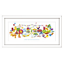 Buy Nicola Metcalfe - Country Framed Print, 44 x 84cm Online at johnlewis.com