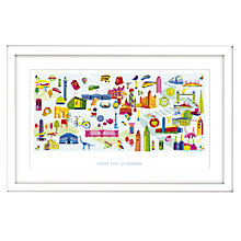 Buy Nicola Metcalf - London Framed Print, 54 x 84cm Online at johnlewis.com