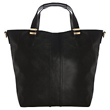 Buy Warehouse Formed Panel Shopper Handbag, Black Online at johnlewis.com