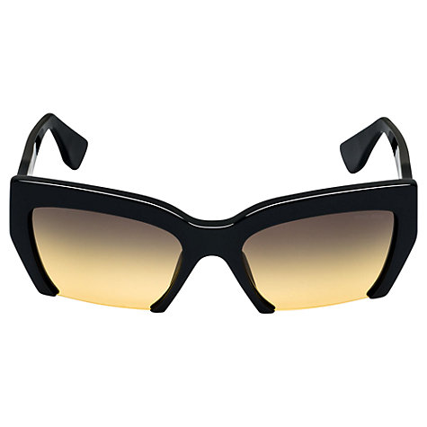 Buy Miu Miu MU11OS Angular Bottomless Acetate Frame Sunglasses Online at johnlewis.com