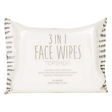 Buy TOPSHOP 3 In 1 Face Wipes Online at johnlewis.com