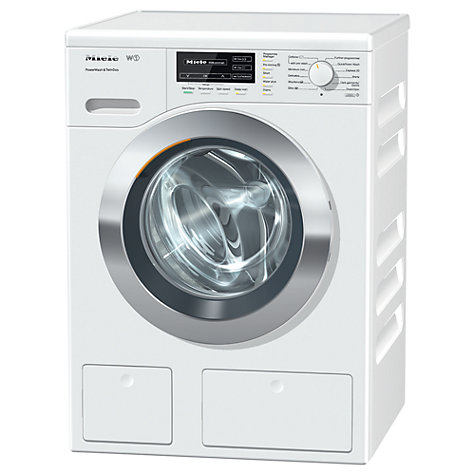 Buy Miele WKH 120 WPS Freestanding Washing Machine, 8kg Load, A+++ Energy Rating, 1600rpm Spin, ChromeEdition Online at johnlewis.com