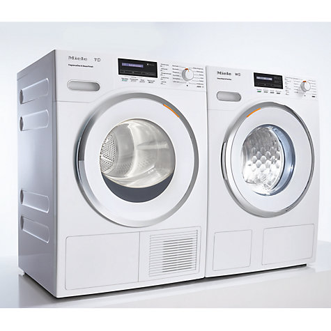 Buy Miele TKB 440 WP Heat Pump Tumble Dryer, 8kg Load, A+ Energy Rating, ChromeEdition Online at johnlewis.com