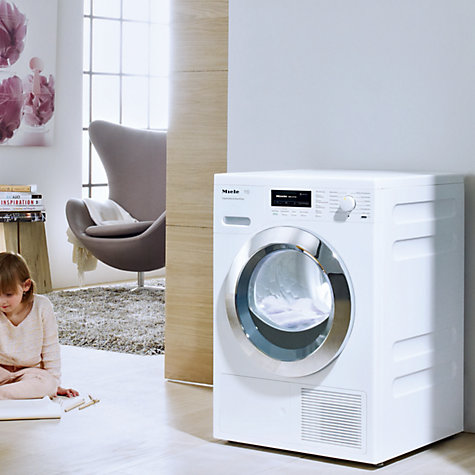 Buy Miele TKG 440 WP Heat Pump Tumble Dryer, 8kg Load, A+ Energy Rating, ChromeEdition Online at johnlewis.com