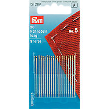 Buy Prym Hand Sewing Needles, Size 5, Pack of 20 Online at johnlewis.com