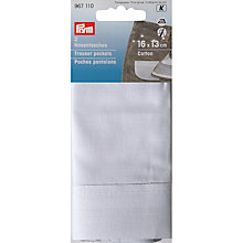 Buy Prym Iron-on Half Trouser Pockets, Pack of 2, 16 x 13cm Online at johnlewis.com
