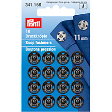 Buy Prym Snap Fasteners, 11mm, Pack of 16, Black Online at johnlewis.com