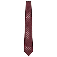 Buy Reiss Dino Polka Dot Jacquard Silk Tie, Pink Online at johnlewis.com