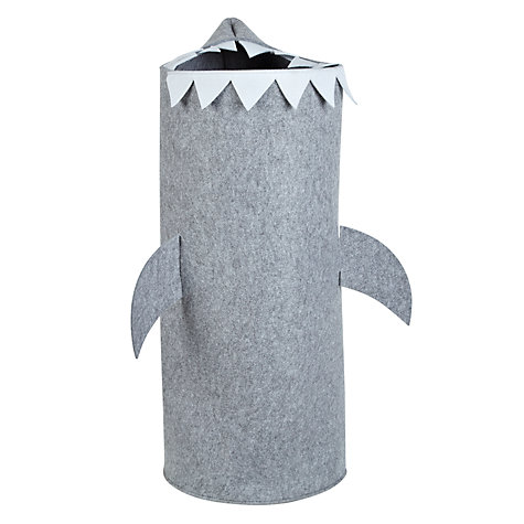 Buy little home at John Lewis Felt Shark Laundry Bin Online at johnlewis.com
