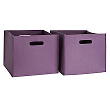 Buy little home at John Lewis Felt Storage Box, Pair Online at johnlewis.com
