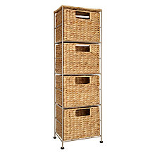 Buy John Lewis Water Hyacinth 4 Drawer Storage Unit Online at johnlewis.com