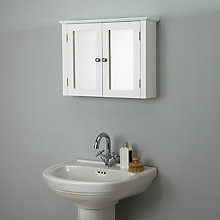 Buy John Lewis Hampton Double Bathroom Cabinet, White Online at johnlewis.com