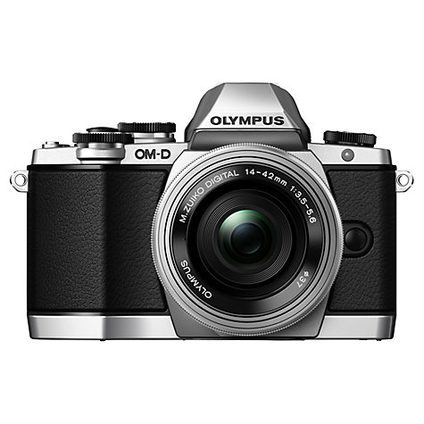"Buy Olympus OM-D E-M10 Compact System Camera with 14-42mm EZ Lens, HD 1080p, 16.1MP, Wi-Fi, EVF, 3"" LCD Touch Screen Online at johnlewis.com"