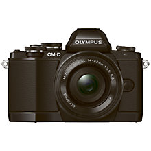 "Buy Olympus OM-D E-M10 Compact System Camera with 14-42mm EZ Lens, HD 1080p, 16.1MP, Wi-Fi, EVF, 3"" LCD Touch Screen with 16GB + 8GB Memory Card Online at johnlewis.com"