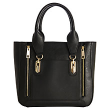 Buy Warehouse Double Zip Contrast Tote, Black Online at johnlewis.com