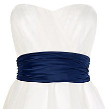 Buy Phase Eight Bridalwear Emilia Satin Sash, Navy Online at johnlewis.com