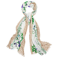Buy Phase Eight Valencia Oriental Print Scarf, White Online at johnlewis.com