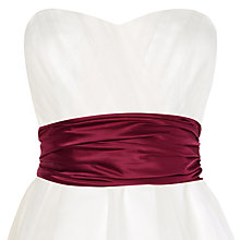 Buy Phase Eight Bridalwear Emilia Satin Sash, Berry Online at johnlewis.com