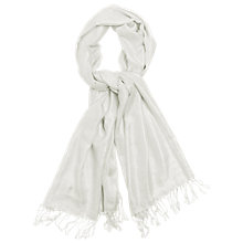 Buy Phase Eight Roma Katy Double Layer Scarf, White Online at johnlewis.com