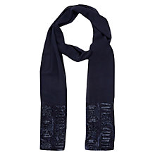 Buy Jacques Vert Cornelli Trim Shawl, Blue Online at johnlewis.com