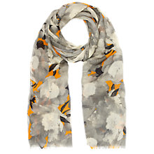 Buy Whistles Mystic Floral Print Scarf, Orange/mul Online at johnlewis.com
