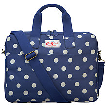 "Buy Cath Kidston Button Spot Case for Laptops up to 15"", Royal Blue Online at johnlewis.com"
