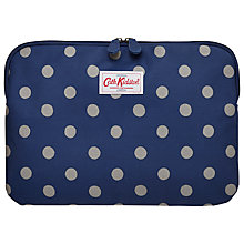 "Buy Cath Kidston Button Spot Sleeve for Laptops up to 13"", Royal Blue Online at johnlewis.com"