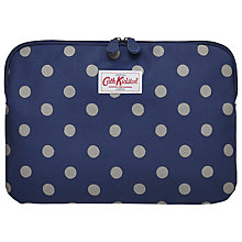 "Buy Cath Kidston Button Spot Sleeve for Laptops up to 11"", Royal Blue Online at johnlewis.com"