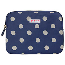 "Buy Cath Kidston Button Spot Sleeve for Tablets up to 10.1"", Royal Blue Online at johnlewis.com"