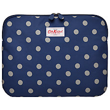 "Buy Cath Kidston Button Spot Sleeve for Laptops up to 15"", Royal Blue Online at johnlewis.com"